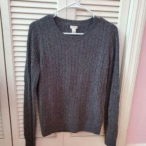 NWT JCrew factory wool blend cable knit sweater